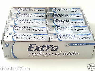 30 x Wrigley's Extra Professional White Peppermint Flavour Sugarfree Chewing Gum