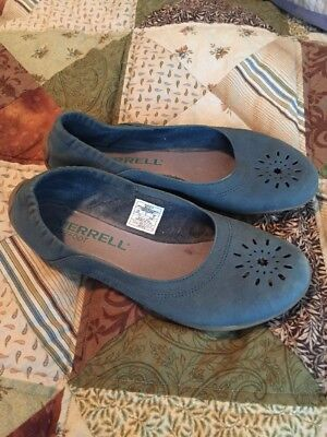 Merrell Shoes Women's Size 6.5 / 37 Leather Blue ecu