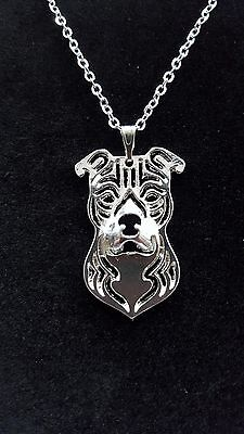 American Staffordshire Terrier, Pit Bull, Bulldog Necklace, Pendant