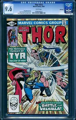 Thor 312 in CGC 9.6, white pages, perfect cover align, Winnipeg Pedigree