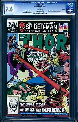 Thor 314 in CGC 9.6, white pages, perfect cover align, Winnipeg Pedigree