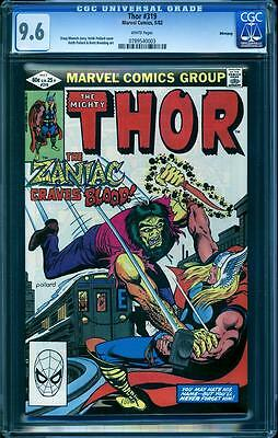 Thor 319 in CGC 9.6, white pages, perfect cover align, Winnipeg Pedigree