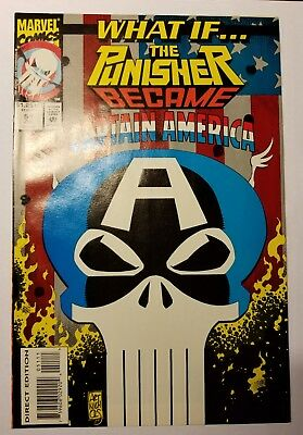 What If #51 Vol 2 Marvel Jul 1993 NM 9.4  Punisher Captain America
