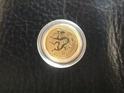1/20 2012 Lunar Dragon Gold Perth Mint Bullion $5 Coin