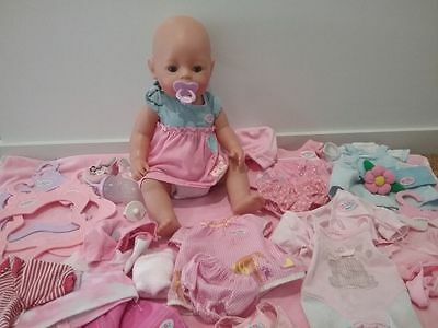 Baby born doll bulk 7 outfits zapf creationst doll clothes accesories dummy lot