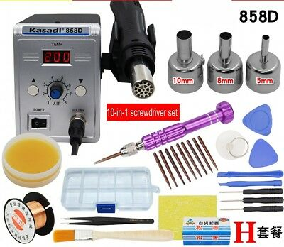 Soldering Station Rework Hot Air & Iron 858A/858D/8586 With Tips Soldering Tool