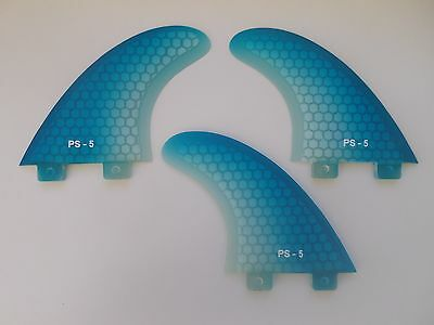 PERFORMANCE CORE surfboard THRUSTER FINS blue fade (set x 3) hexcore FCS compat