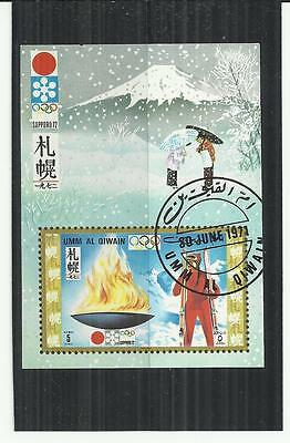 Umm Al Qiwain 1971 Winter Olympics Mini Sheet CTO