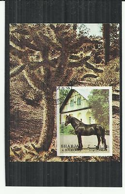 Sharjah 1972 Horse Mini Sheet CTO