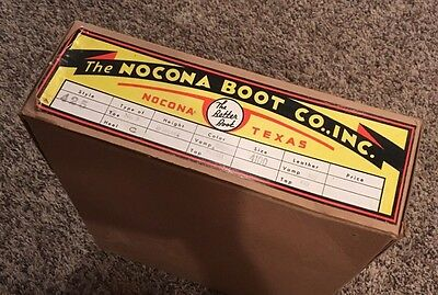 Vintage 1940's Nocona Boot Co Cowboy Work Boot Empty Box Advertising
