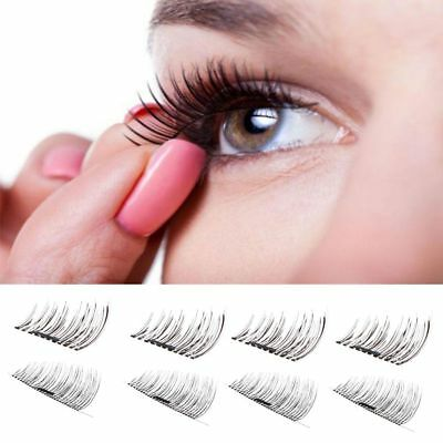 2 Pairs Magnetic Eyelashes 3D Handmade Reusable False Magnet Eye Lashes Set CA