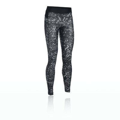 Under Armour Womens Black Grey Compression Gym Long Tights Bottoms Pants