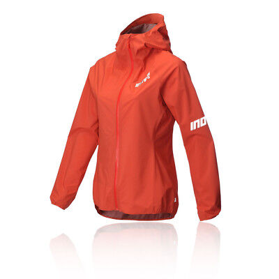 Inov8 AT/C Stormshell Womens Orange Long Sleeve Full Zip Sports Jacket Top