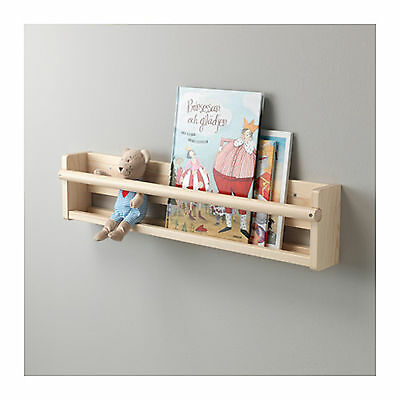 Solid Wood Wall Storage Unit Display Book Shelf Neutral Kids Nursery IKEA FLISAT