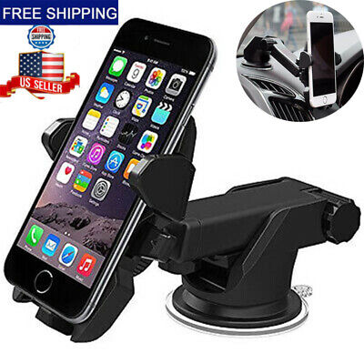 For Mobile Cell Phone iPhone Samsung GPS 360°Car Holder Windshield Mount Bracket