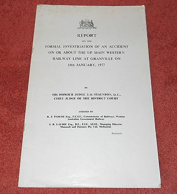 1977 Nsw Railways Original Judge Staunton Report Granville Train Crash Disaster