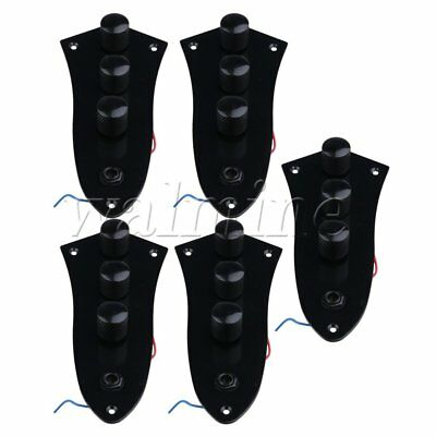 5PCS Black JB Electric Bass Control Plate Assembly Knobs Pots Loaded