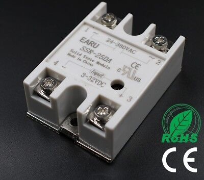 SSR-25DA 25A SSR Solid State Relay with Top/Cover (UK STOCK)