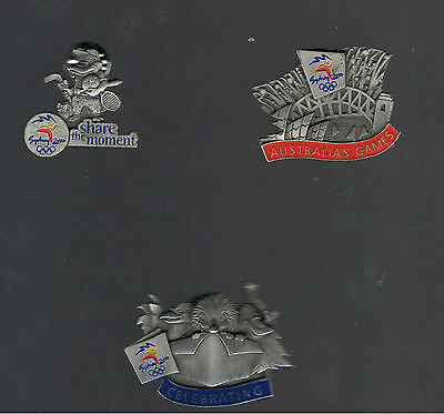 3  Sydney 2000 Limited Edition Pewter Pins