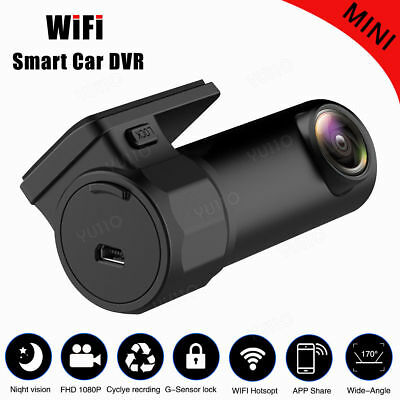 Mini WIFI Car DVR FHD 1080P Camera Video Dash Cam Recorder For Android iPhone 7