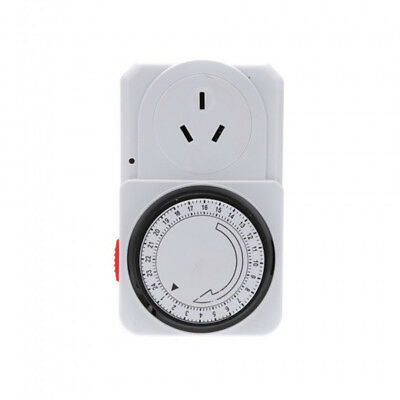 Programmable Plug-in Outlet Wall Timer Socket Switch Digital Mechanics 24 Hrs AR