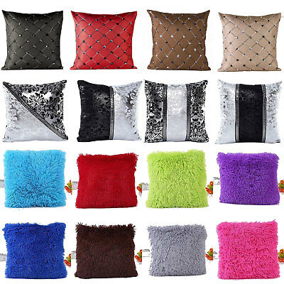 "Cotton Linen Pillow Case Waist Throw Cushion Cover Sofa Home Decor 18"" Square"