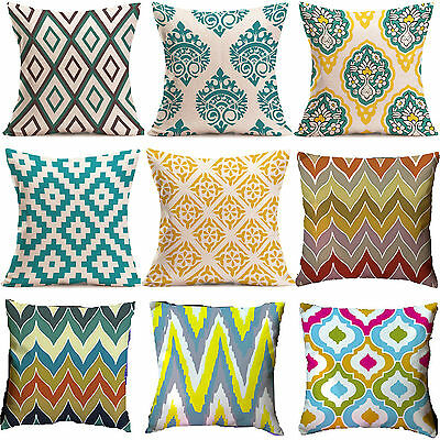 Vintage Geometric Cotton Linen Throw Pillow Cases Cushion Cover Home Sofa Decor