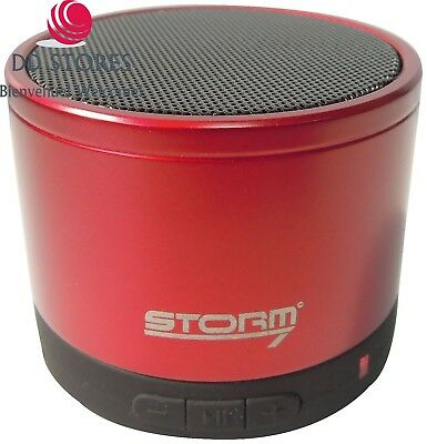 Storm7 MiniHP Mini enceinte Bluetooth Rouge
