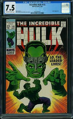 Incredible Hulk CGC 7.5, Herb Trimpe art, Leader app