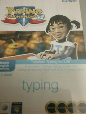 Typing tournament cd rom  as  new used once , perfect condition