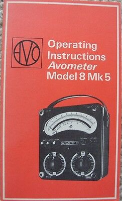 Operating Instructions Avometer Model 8 Mk5