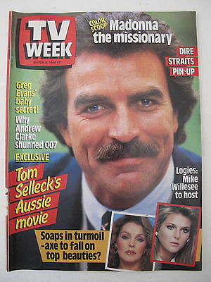 Tv Week March 8, 1986 Tom Selleck Magnum P.i. Cover Nsw Magazine