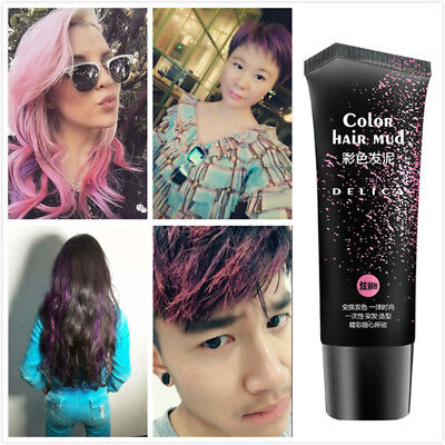 50ml Hair Color Wax Mud Hair Dye Cream Temporary Modeling 6 Colors