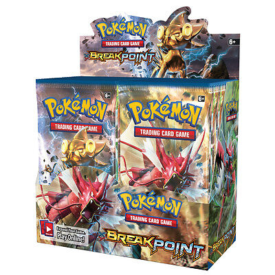 Pokemon TCG XY BreakPoint Booster Box Genuine Factory Sealed 36 Packs