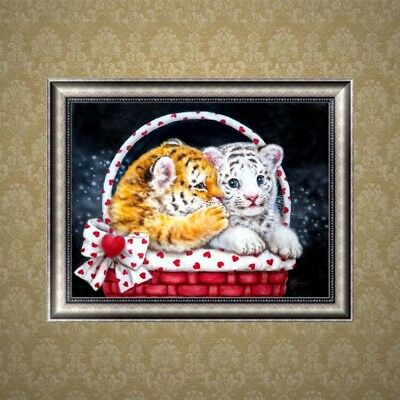 5D Diamond Embroidery Painting Baby Tiger Cross Stitch DIY Art Craft Home Decor