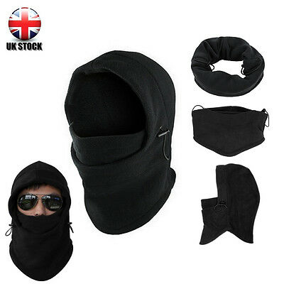 Thermal Wind Stopper Face Mask  Fleece Balaclava Neck Swat Hood Police Ski Bike