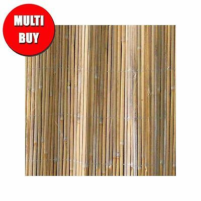 Split Bamboo Cane Garden Screening Rolls Fencing Privacy  1.8m x 5m - 3 Pack
