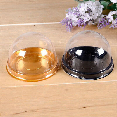 20/50pcs Clear Plastic Mini Cupcake Boxes Cake Packing Boxes Muffin Pod Dome Box