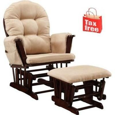 Baby Relax Harbour Glider Rocker and Ottoman Set Beige Cherry New