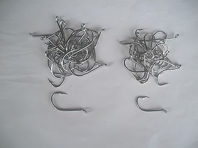 50 Stainless Hooks In 2 Sizes 4/0 And 5/0