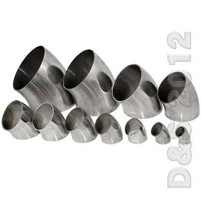 """45MM 1-3/4"""" 1.75"""" Sanitary Weld Elbow Pipe Fitting 45 Degree Stainless Steel 316"""