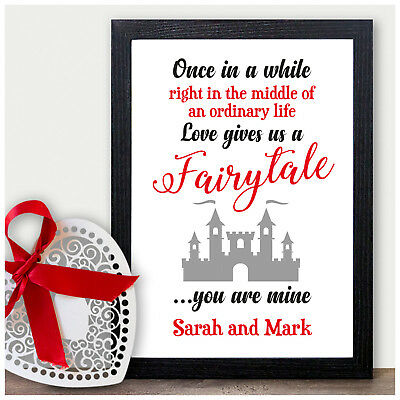 PERSONALISED Engagement DISNEY Beauty And The Beast Couples Wedding Gift Present