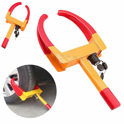 Large  Claw Wheel Clamp Car Caravan Boat Trailer Anti Theft 2 keyed Lock