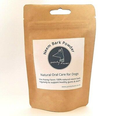 Natural Oral Care for Dogs. Neem Bark Powder. 100% Natural and Pure Tooth Powder