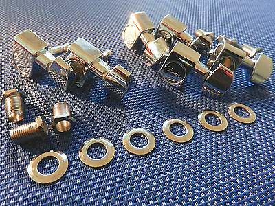 6 USA Fender Strat Tele Staggered TUNERS TUNING PEGS Stratocaster Telecaster