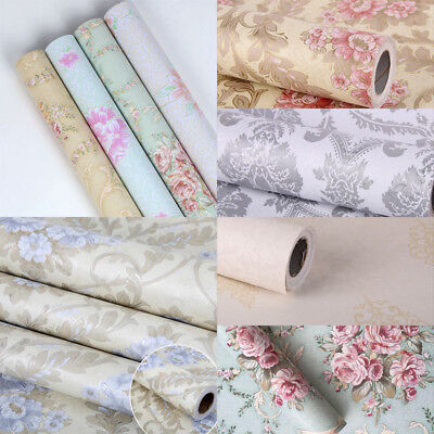 33ft. Vintage Floral Embossed Contact Paper Water Proof Wallpaper Self Adhesive