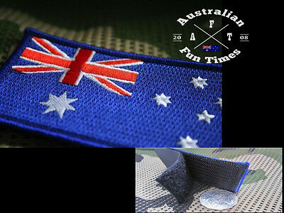 Australian Australia Flag Embroidery Iron Sewn On Patch 8x5cm Special Hook &Loop