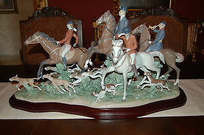Lladro Fox Hunt Stunning Piece & Huge  #542 Ltd. Ed. Of 1000 Pcs Item# 5362 P/u