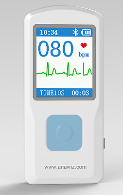 Contec Medical PM10 Portable ECG EKG wi USB, HR Monitor, Bluetooth. UK Dispatch.