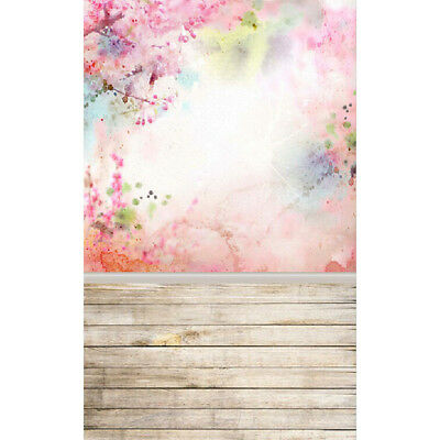 3x5FT Watercolour Wood Wall Photography Backdrops Photo Props Studio Background